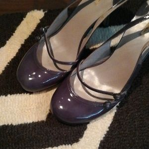 Max Studio patent leather sling backs